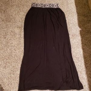 Charlotte Russe Size S Black Maxi Skirt
